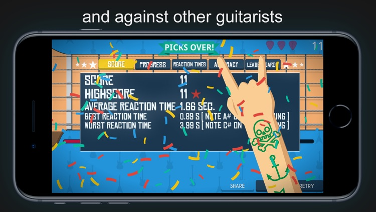 Guitar Notes - Fretboard Games screenshot-4