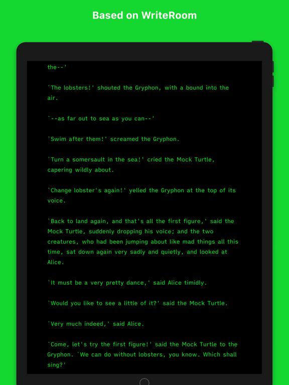 Screenshot #4 pour Writemator - Plain Text Editor