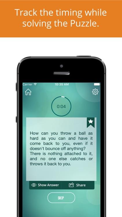 Brain Teasers - Thinking Games screenshot-4