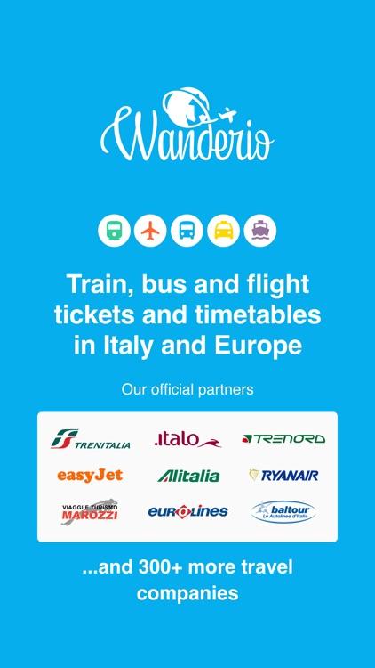 Wanderio – Train, Flight, Bus screenshot-0