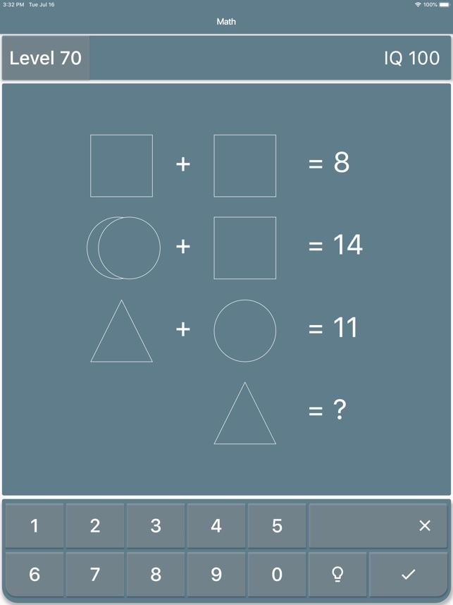 Mathe Rätsel Iq Test Im App Store