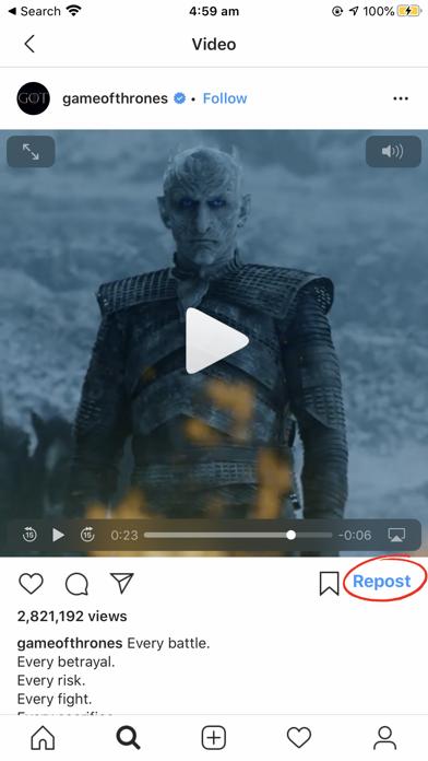 Repost for Instagram Share Pro screenshot three