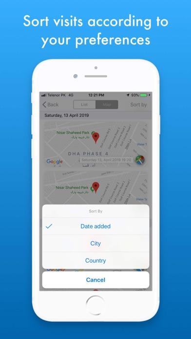 MZVisits - Travelling tracker screenshot 5