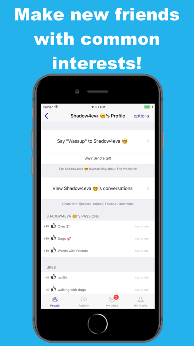 Bored Chat-chat with strangers screenshot one
