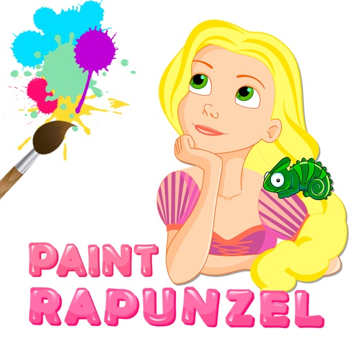Paint Princess Rapunzel