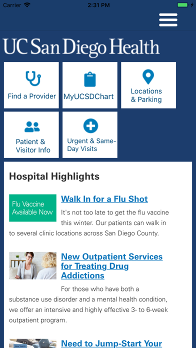 messages.download MyUCSDHealth software