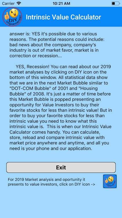 Intrinsic Value Calculator DIY screenshot-9