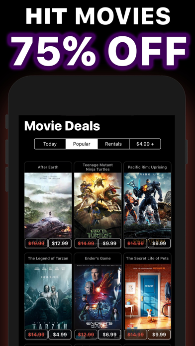 Movie Deals Cheap Movies App