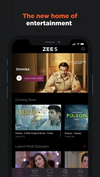 Screenshot for ZEE5 - Shows Live TV & Movies in United Arab Emirates App Store