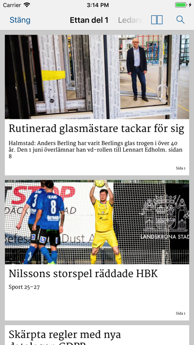 Hallandsposten E-tidning på PC