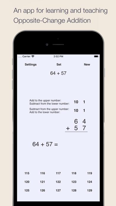 Opposite-Change Addition Screenshots
