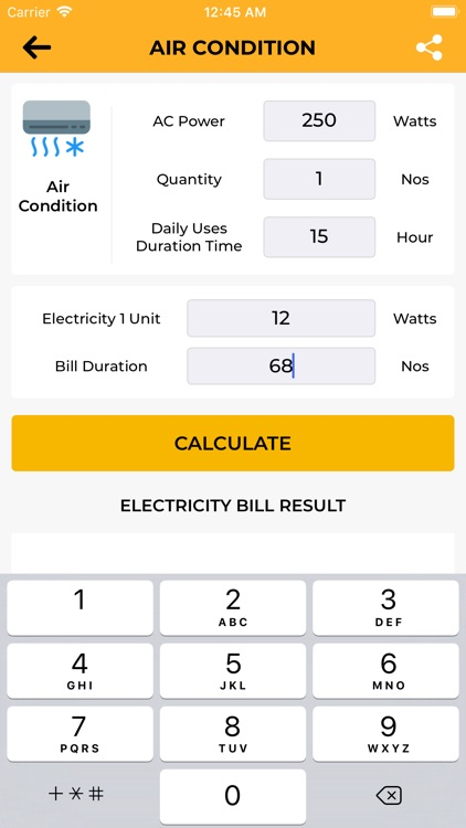 Electricity Pricing+ UnitsCalc screenshot-3