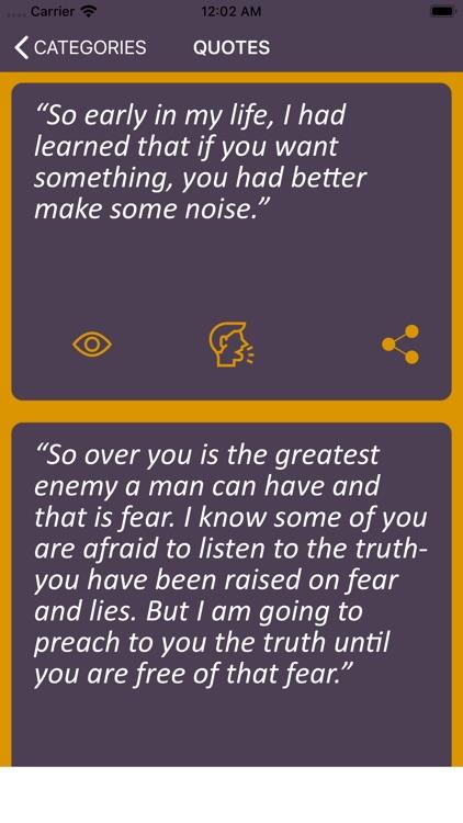 Malcom X Wisdom screenshot-3