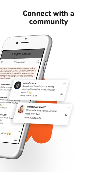 Wattpad review screenshots