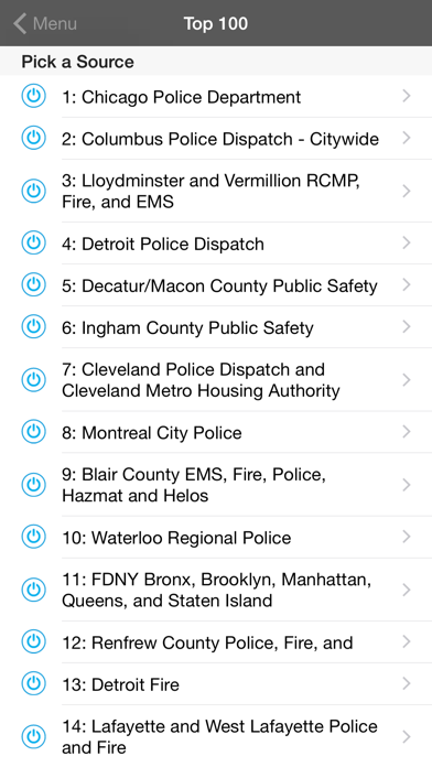 5-0 Radio Pro Police Scanner Screenshot