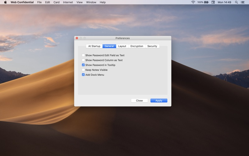 Web Confidential for Mac