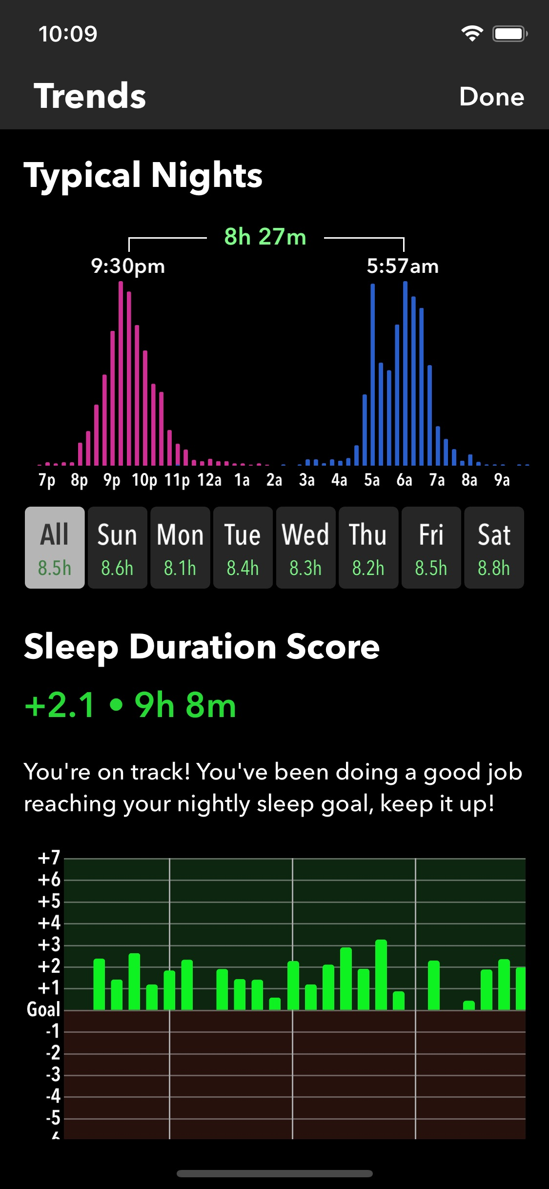 Screenshot do app Sleep++