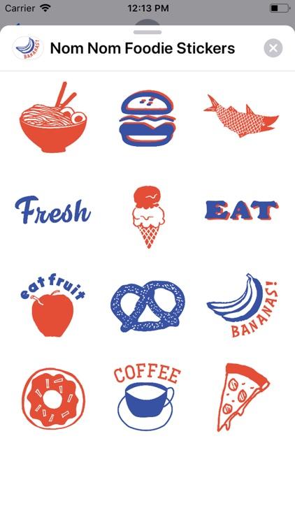 Nom Nom Foodie Stickers