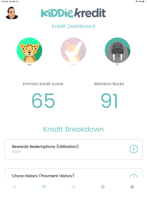 KiddieKredit - Track Chores screenshot
