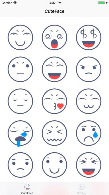 CuteFace-fun sticker
