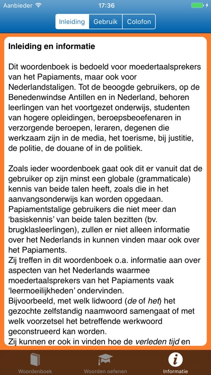 Woordenboek Papiaments > NL screenshot-3