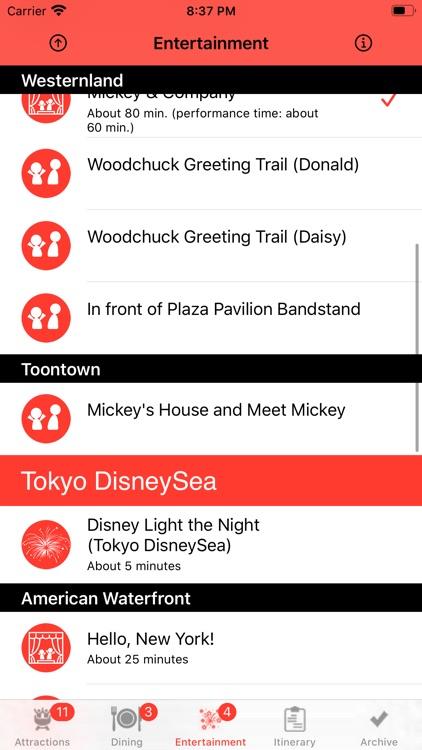 Theme Park Checklist: Tokyo