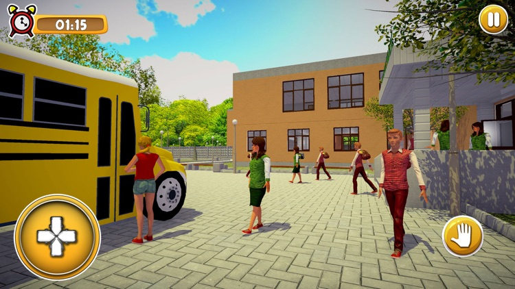 School Girl Life Simulator 3D screenshot-3