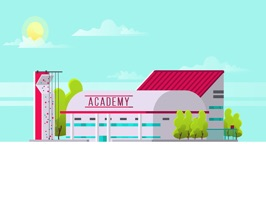 The AcademyNPD is a small sticker, which are show the 50 Academy NPD sticker in cartoon