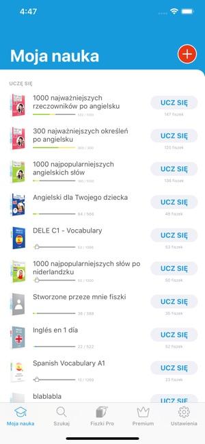 Najnowsze Fiszkoteka - fiszki językowe on the App Store NH57