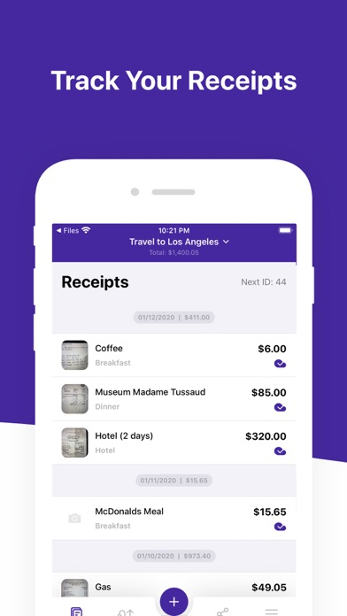 Screenshot #3 pour Smart Receipts