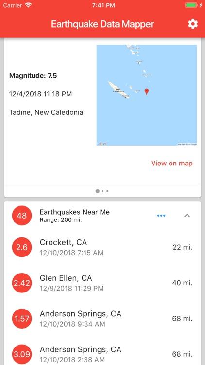Earthquake Data Mapper