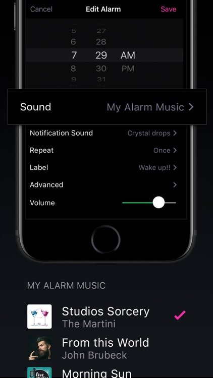 Alarm Clock - My Music Alarms screenshot-3
