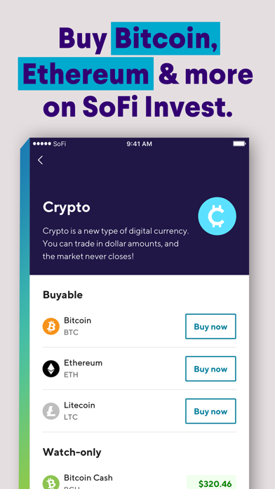 Screenshot for SoFi: Invest, Pay & Save Money in United States App Store