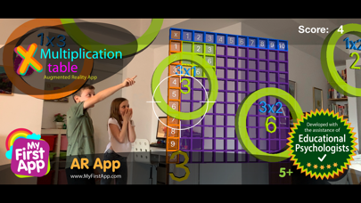 Multiplication table - AR game screenshot 1