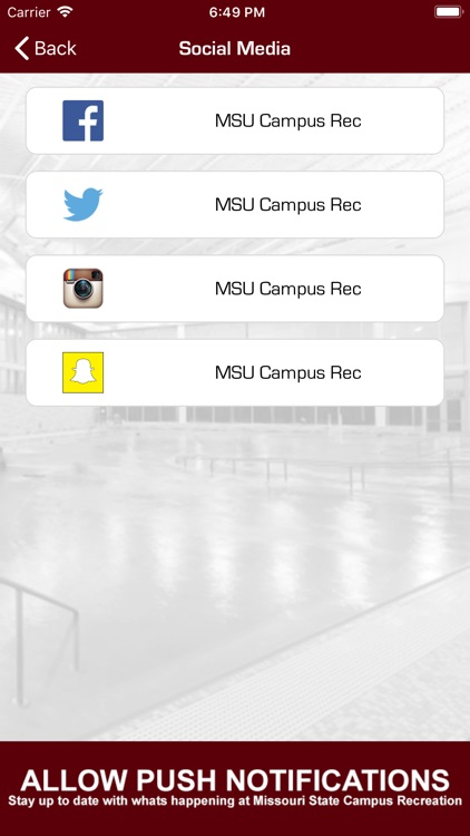 MSU CAMPUS RECREATION screenshot-1