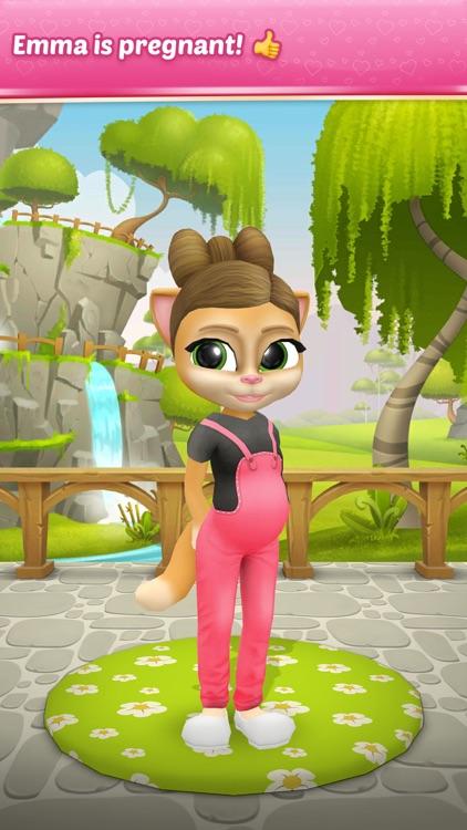 Pregnant Talking Cat Emma screenshot-0