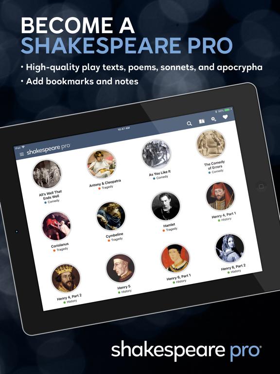 Shakespeare Pro screenshot