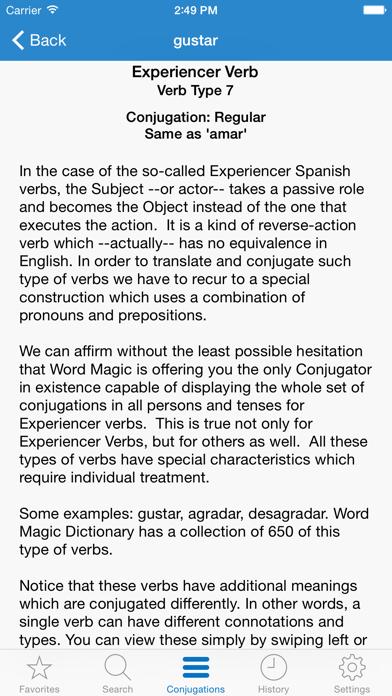 English Spanish Verbs Screenshots