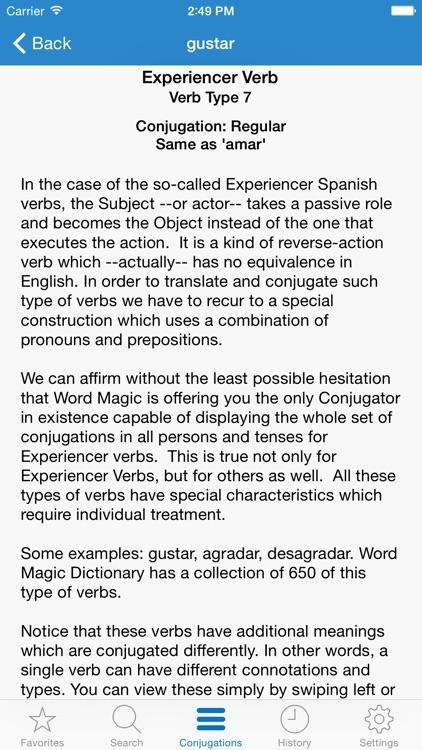English Spanish Verbs screenshot-3