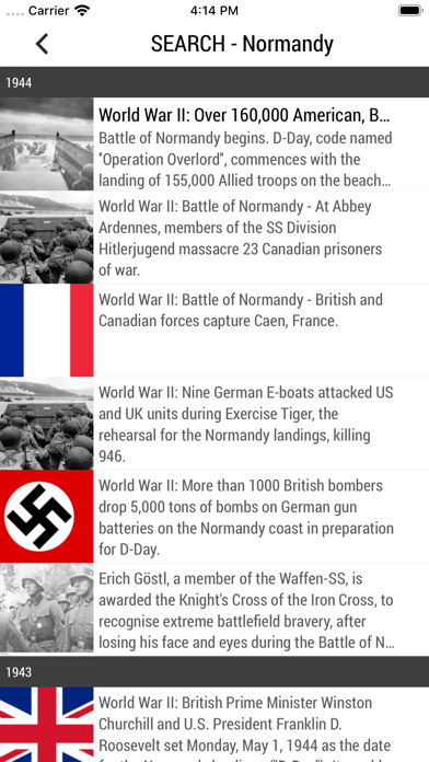 Today In History Screenshots