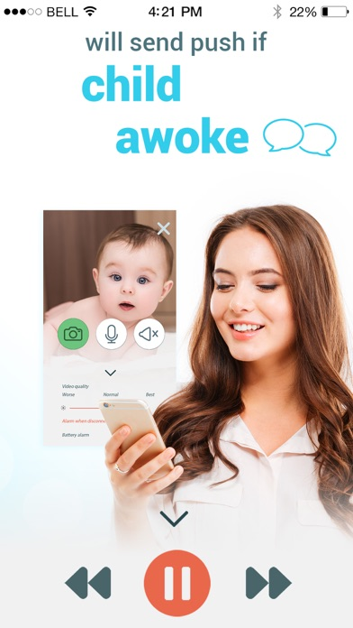 Screenshot for Babyphone 3g - baby monitor. in Peru App Store