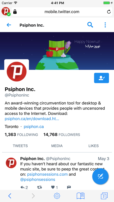 Psiphon Browser screenshot three