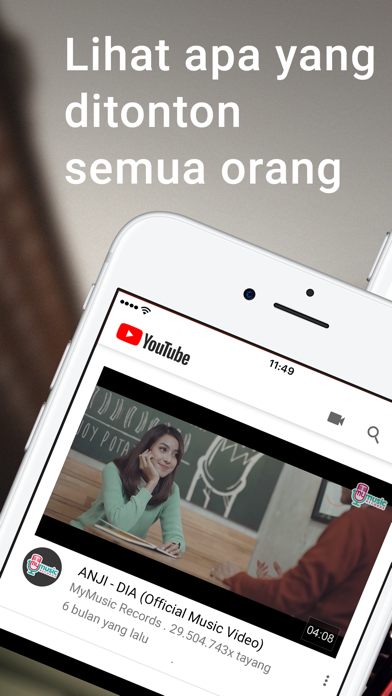 Screenshot for YouTube in Indonesia App Store