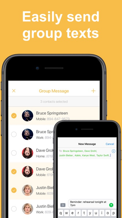 Contact Groups - Text & Email