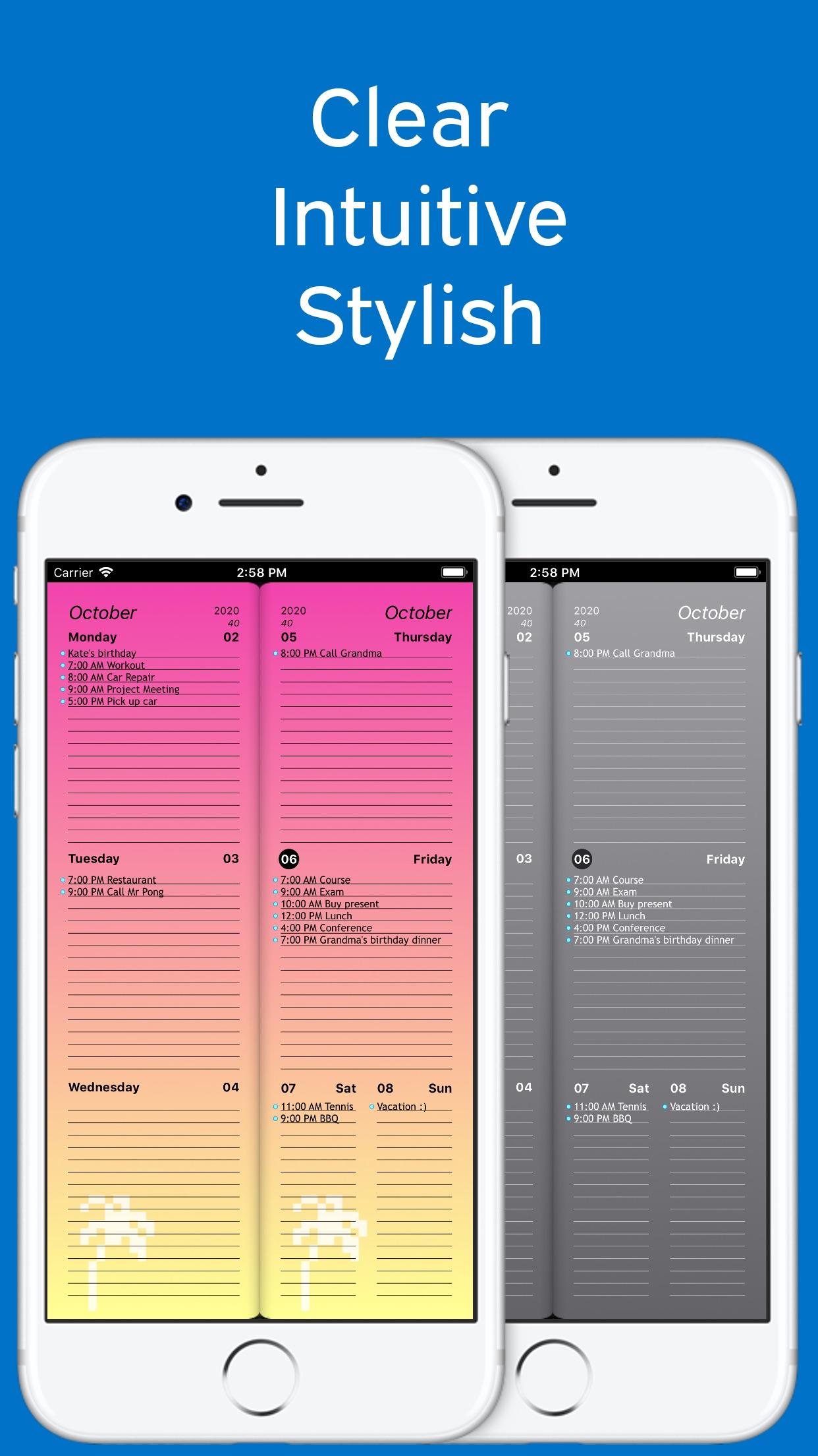 Screenshot do app Week Agenda Ultimate