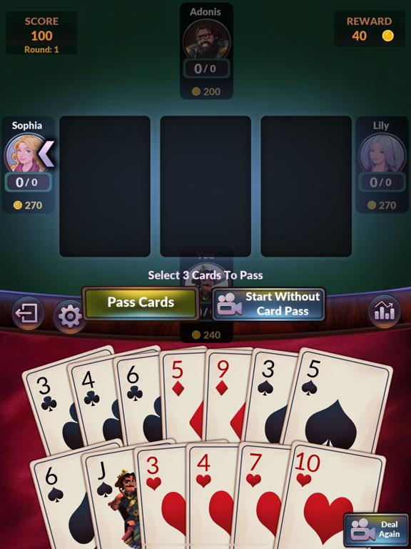 Hearts - Offline Card Games screenshot 14