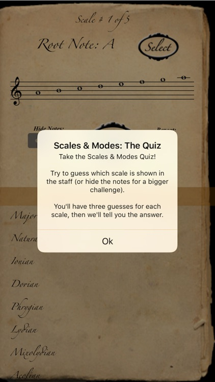 Scales & Modes: The Quiz