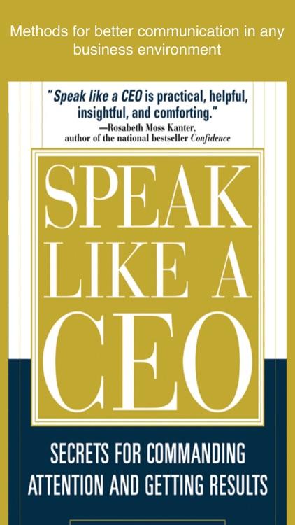 Speak Like a CEO (McGraw Hill)