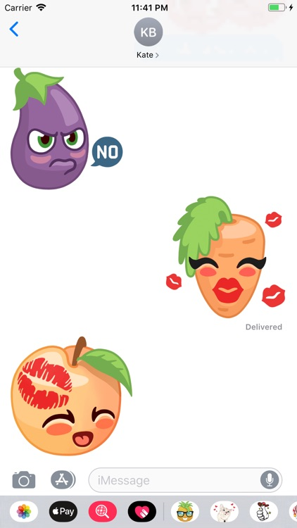 Fruit and Vegetables Stickers screenshot-3