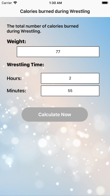 Calories for Wrestling screenshot-8